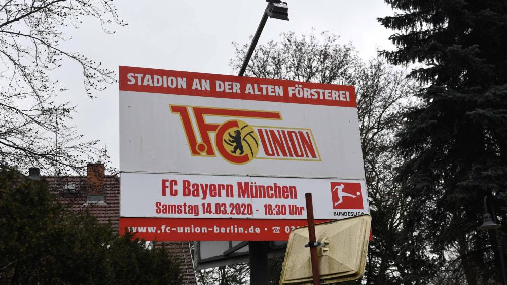 Am Samstag um 18.30 Uhr empfängt Union Berlin den FC Bayern - nun doch ohne Fans.