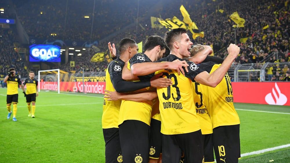 Borussia Dortmund jubelt in der Champions League