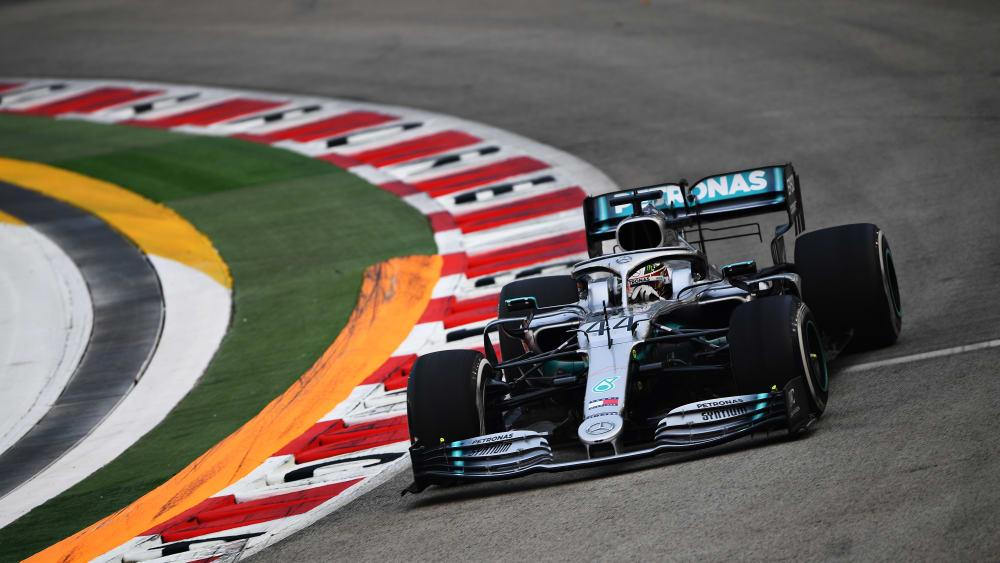 Schnellster im 2. Freien Training: Mercedes-Pilot Lewis Hamilton.