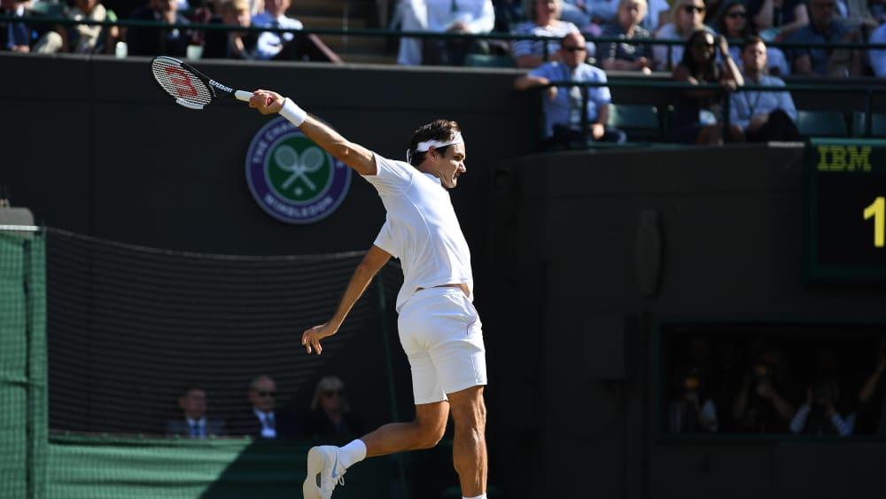 Holt er wieder zum großen Schlag in Wimbledon aus? Roger Federer.