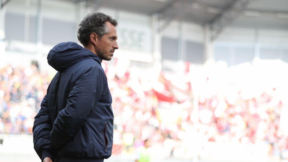 Drei wichtige Punkte in ungewohnter Funktion: Der Mainzer Co-Trainer Jan-Moritz Lichte.