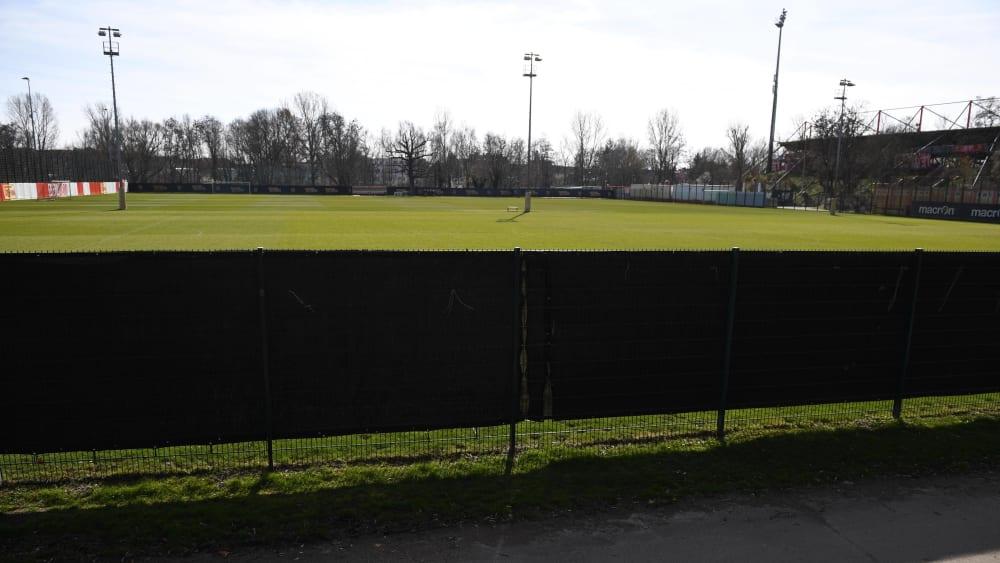 Noch ist das Trainingsgelände des 1. FC Union Berlin verwaist. Für den 6. April hoffen die Eisernen, dass es hier weitergeht.