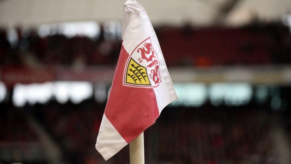Eckfhane mit VfB-Wappen