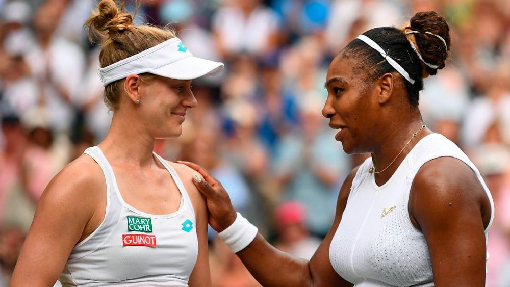 Alison Riske und Serena Williams