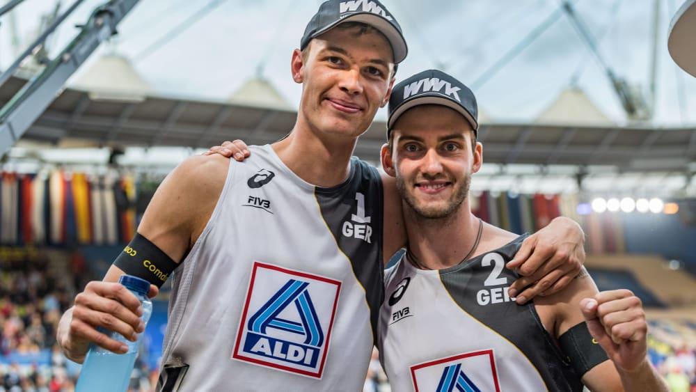 Freuen sich auf die nächste Runde: Julius Thole und Clemens Wickler.