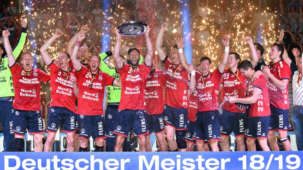 Flensburgs Spieler feiern