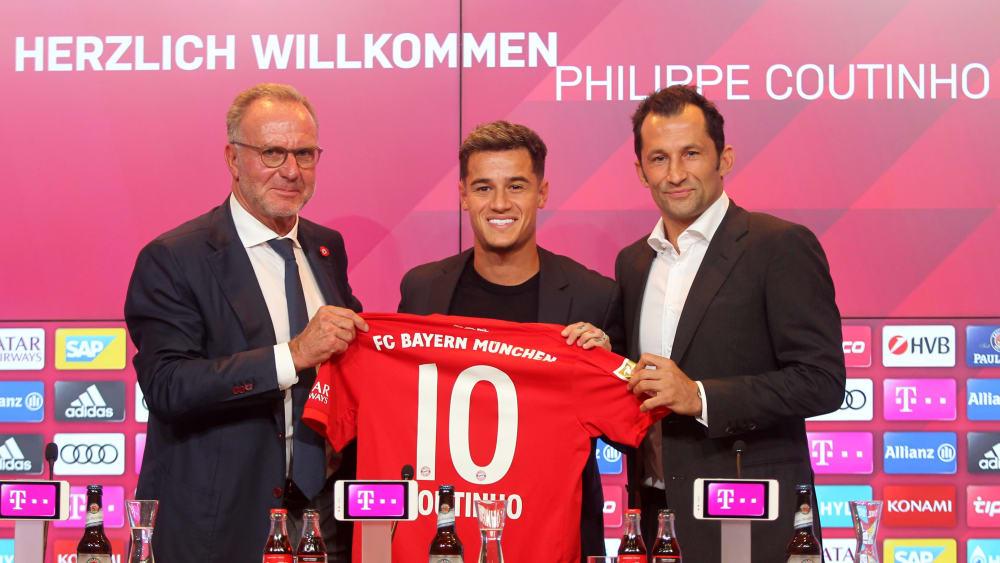 Karl-Heinz Rummenigge, Philippe Coutinho und Hasan Hasan Salihamidzic.