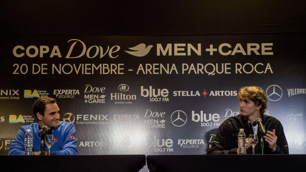 Roger Federer (l.), Alexander Zverev