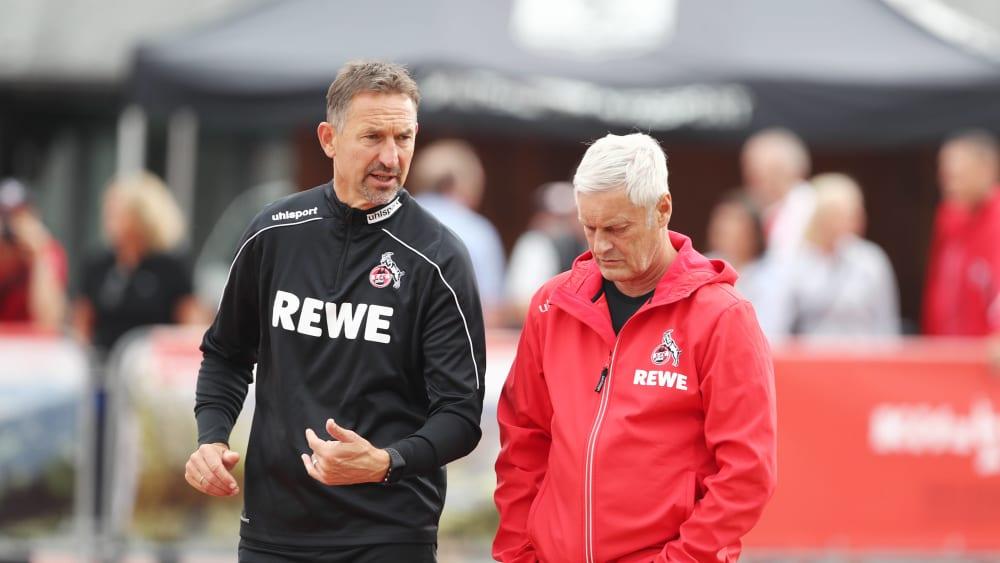 Wie geht es mit dem Duo des 1. FC Köln weiter? Trainer Achim Beierlorzer (li.) und Noch-Geschäftsführer Sport Armin Veh.