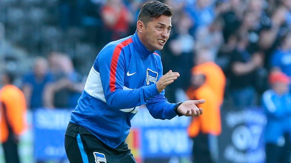 Feiert mit Hertha den ersten Ligasieg der Saison: Trainer Ante Covic.