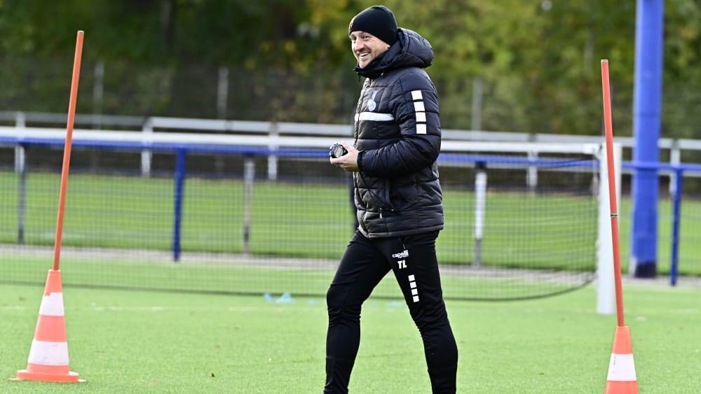 MSV Duisburg-Trainer Torsten Lieberknecht im Training.