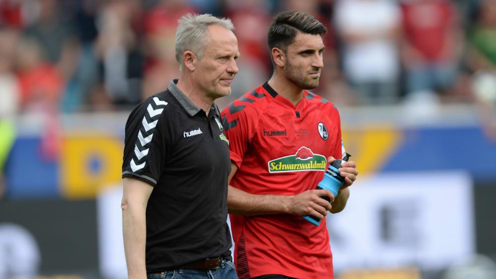 Trainer Christian Streich und Vincenzo Grifo
