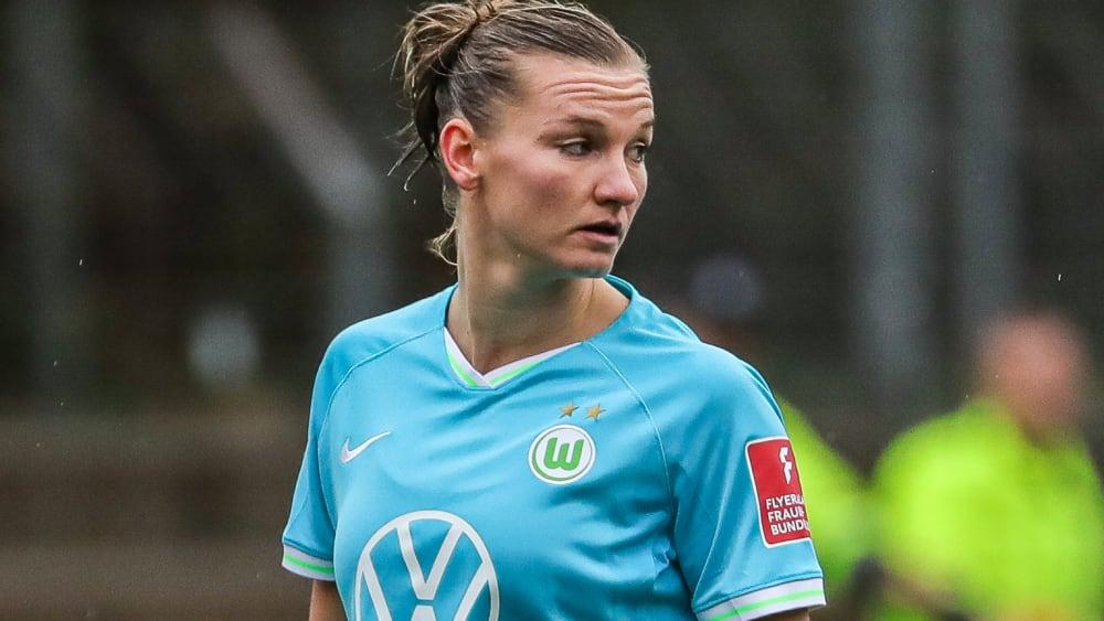 Wolfsburgs Alexandra Popp nach ihrer Einwechslung in Freiburg