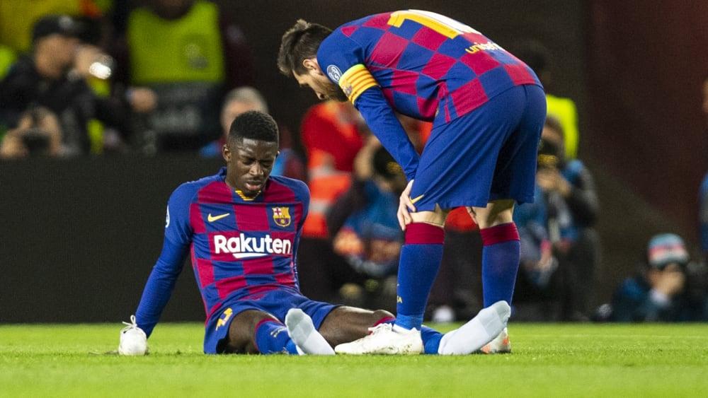 Ousmane Dembelé und Lionel Messi