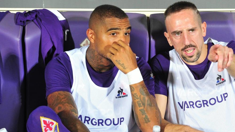 Doppeldebüt: Kevin-Prince Boateng (li.) und Franck Ribery kamen für Florenz von der Bank.