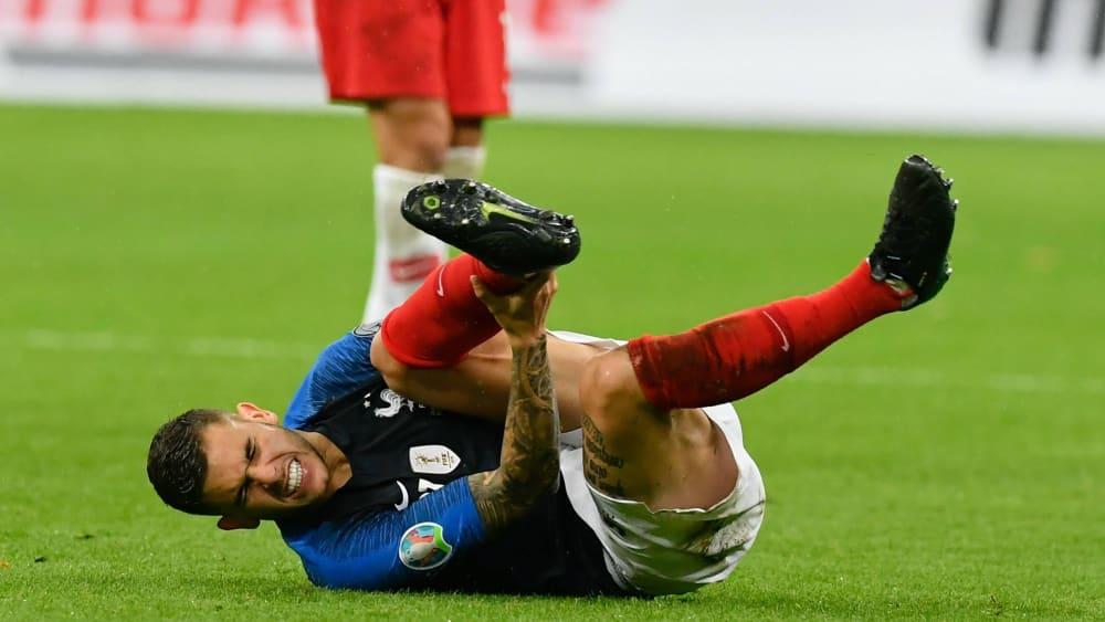 Musste was einstecken: Bayerns französischer Nationalspieler Lucas Hernandez.
