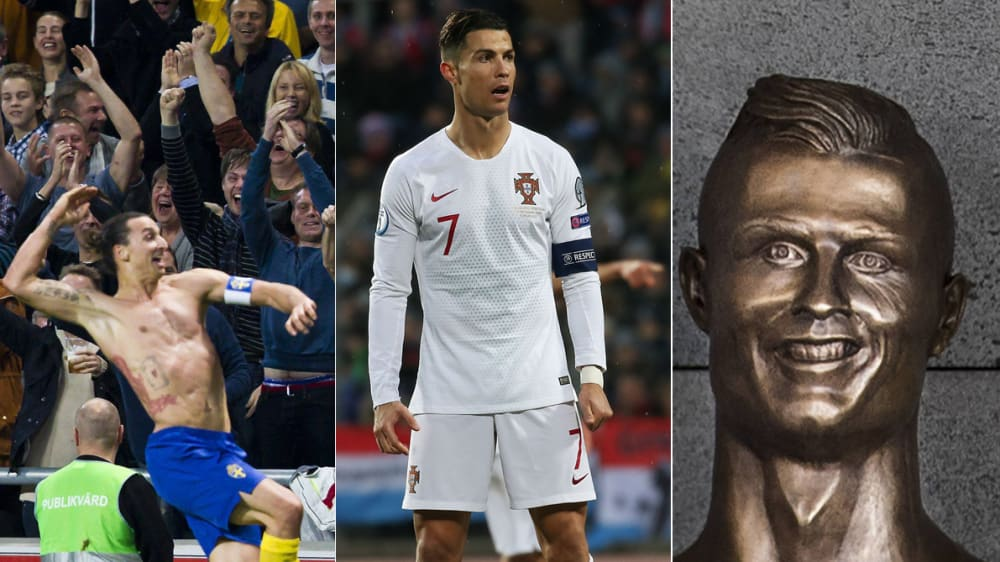 Zlatan Ibrahimovic und Cristiano Ronaldo