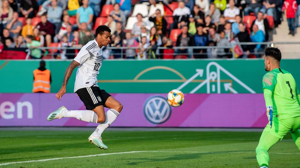 Schreckgespenst: Wolfsburgs Lukas Nmecha erzielte gegen Griechenland einen Treffer und holte zudem einen Platzverweis raus.