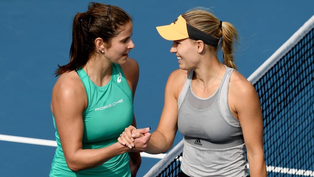 Julia Görges (l.) und Caroline Wozniacki