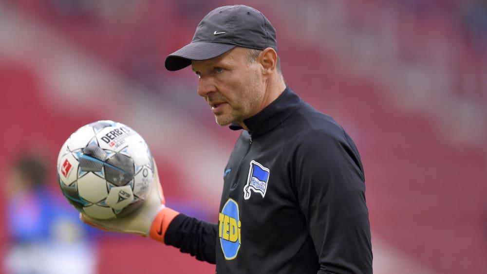 Torwarttrainer Zsolt Petry im Training bei Hertha BSC.