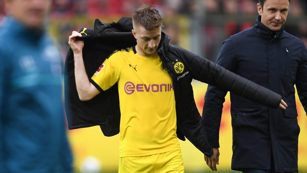 Unzufrieden: Dortmunds Kapitän Marco Reus nach dem 2:2 in Freiburg.