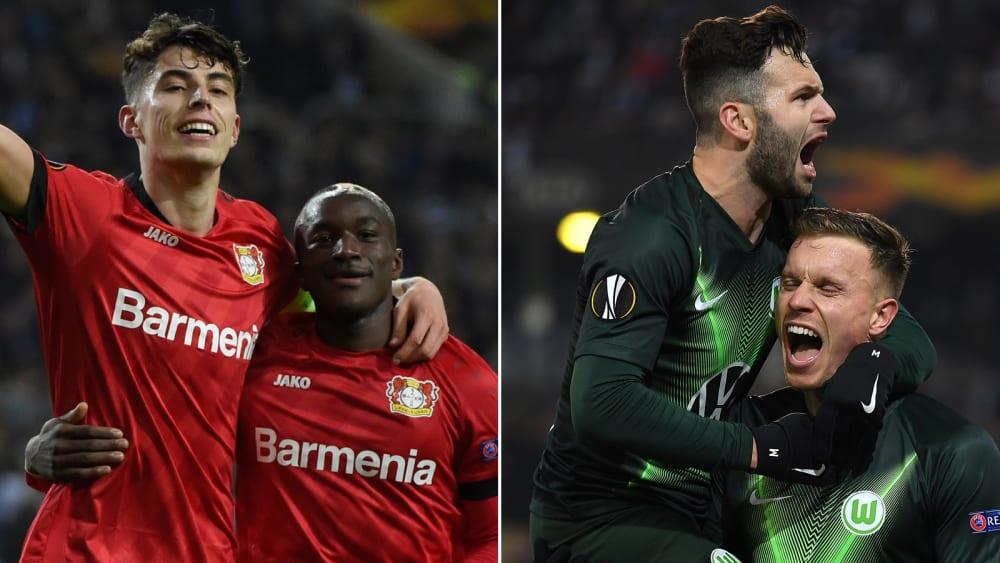 Jubel bei Bayer Leverkusen und beim VfL Wolfsburg