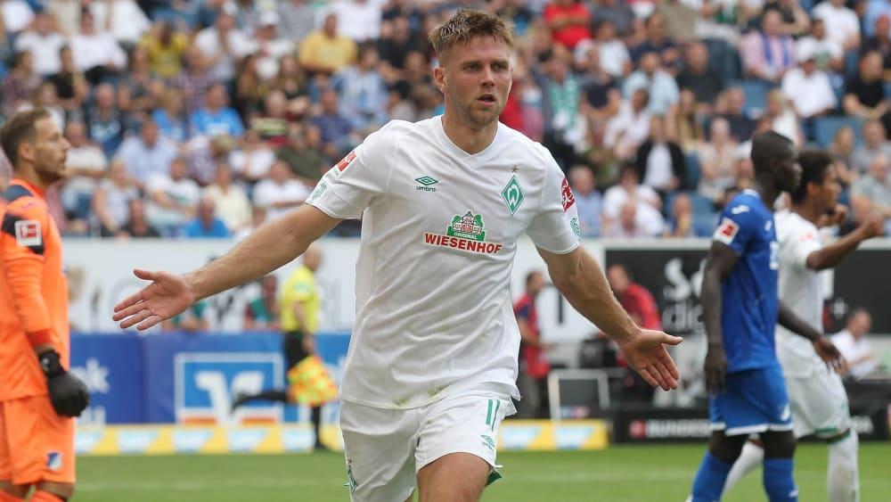 Bei seiner Lieblingsbeschäftigung: Niclas Füllkrug bejubelt seinen Treffer gegen Hoffenheim.