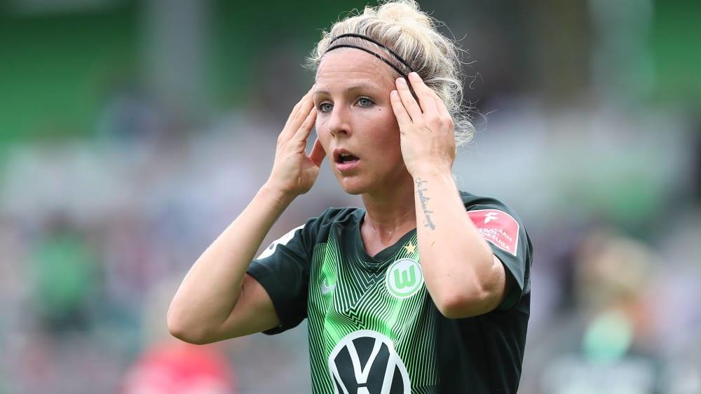 Svenja Huth traf zum 3:0 für Wolfsburg.