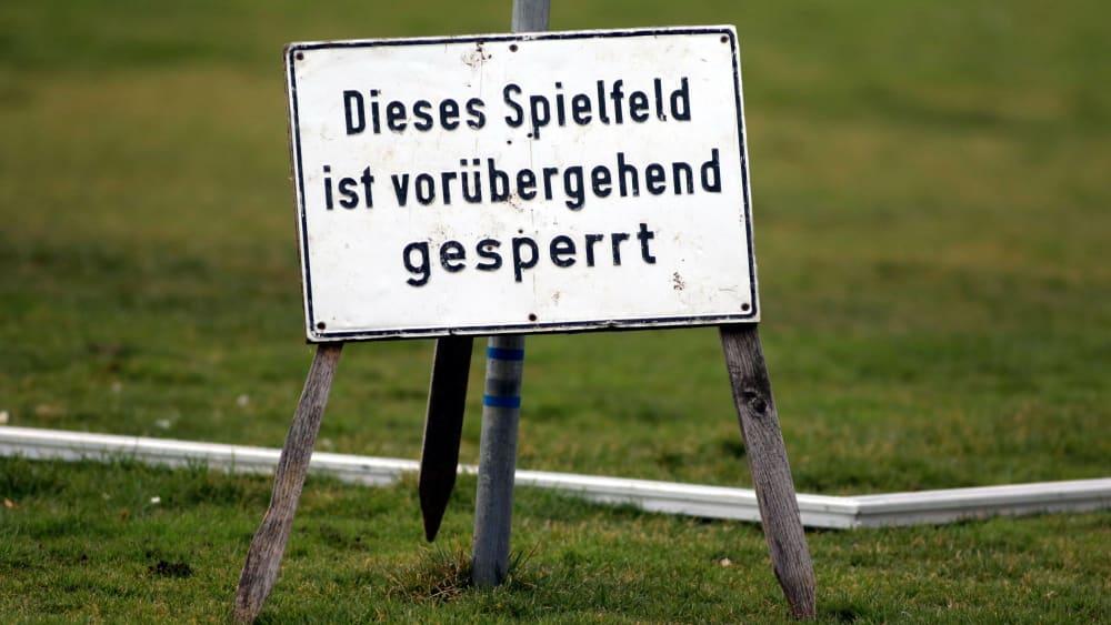 Auf allen Plätzen der fünf Regionalliga-Staffeln ruht bis mindestens 20. April der Spielbetrieb