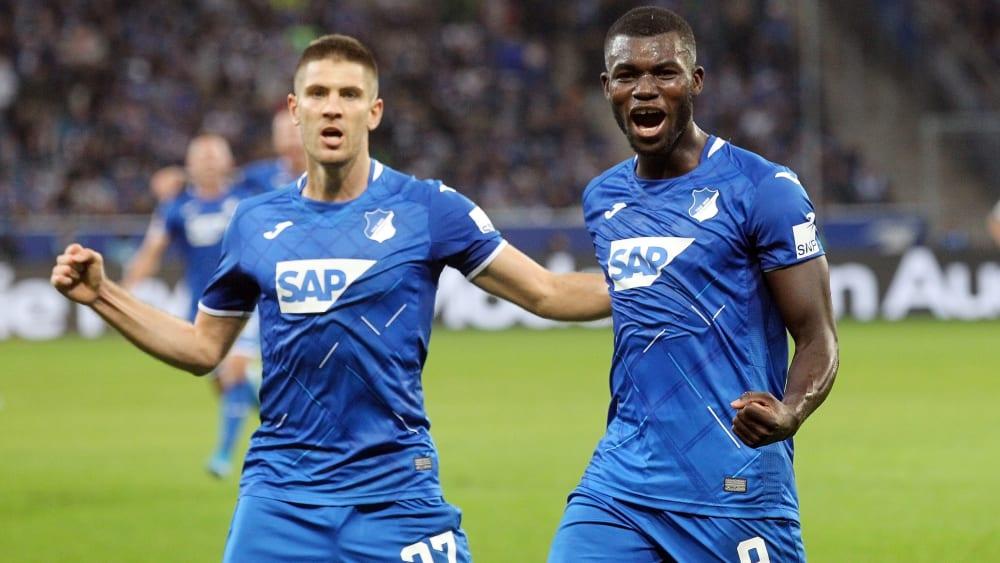 Erfolgreiches Duo: Andrej Kramaric (li.) und Ihlas Bebou sorgten für die beiden Hoffenheimer Treffer.