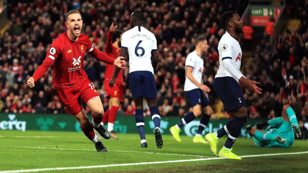 Sein erstes Ligator in Anfield seit 2015: Liverpool-Kapitän Jordan Henderson jubelt nach dem 1:1.