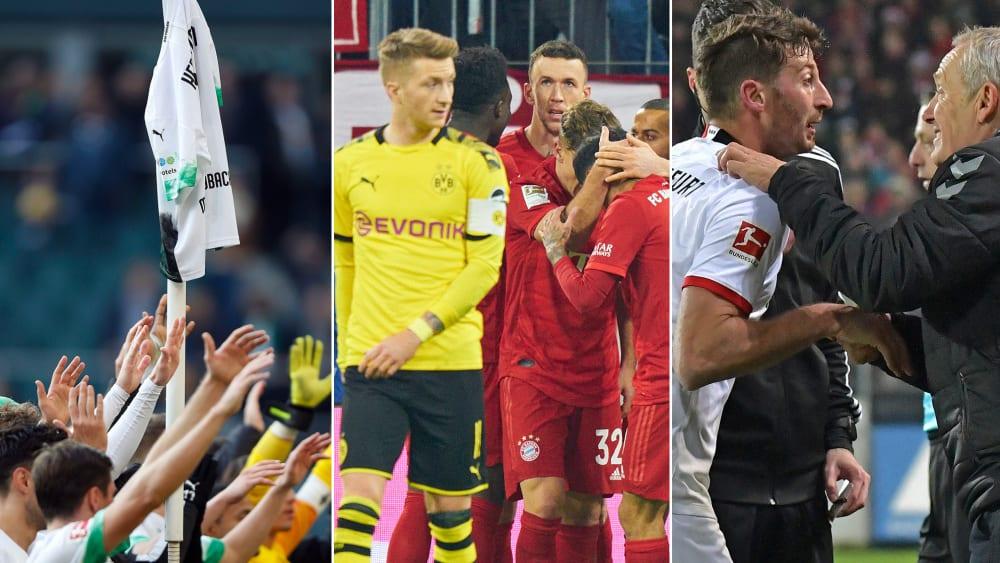 Gladbach feiert, Bayern zerlegt den BVB, Stress zwischen Abraham und Streich