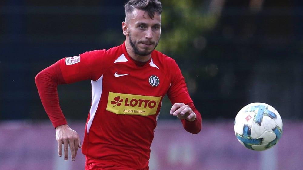 Der direkt verwandelte Eckball von Niklas Kiene brachte den HSC auf die Siegerstraße.