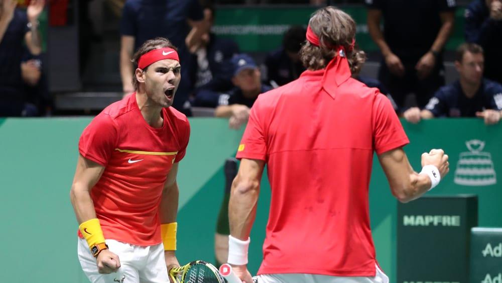 Holten den entscheidenden Punkt im Doppel: Rafael Nadal (li.) und Feliciano Lopez.