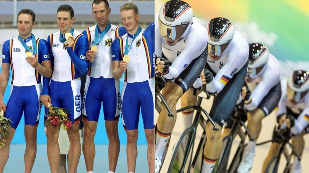 Der Gold-Vierer von 2000 (l.). und der aktuelle Vierer.