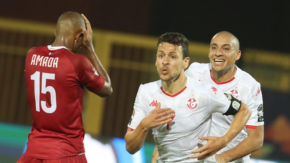 Tunesien jubelt - Ibrahim Amada will nicht hinschauen.