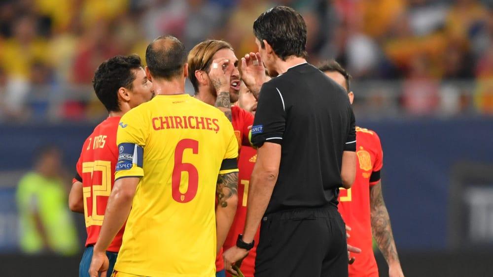 Sergio Ramos jubelt in Rumänien