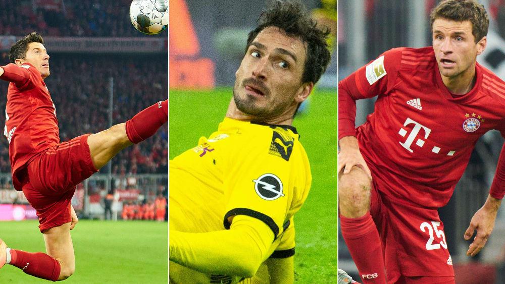 Lewandowski, Hummels und Müller