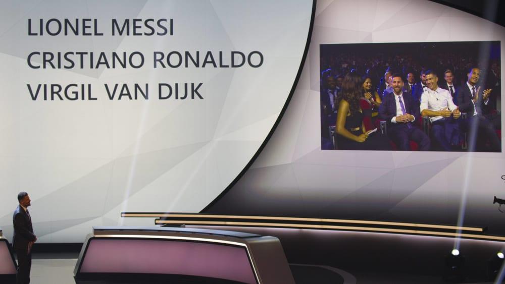 Gala-Gespräche: Cristiano Ronaldo und Lionel Messi.