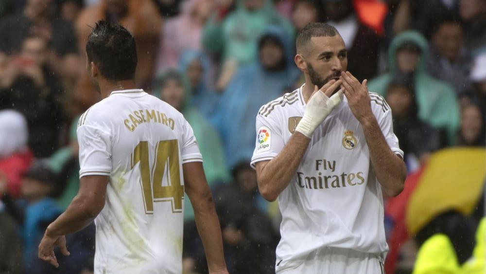 Doppelpack: Karim Benzama erzielte die Treffer zum 1:0 und 2:0.