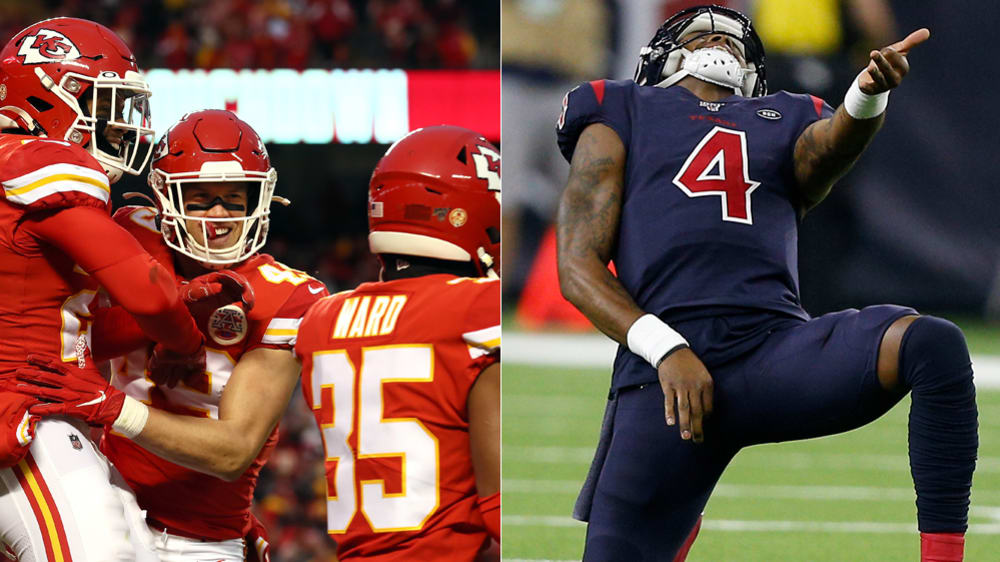 Die Defense der Chiefs und Texans-Quarterback DeShaun Watson