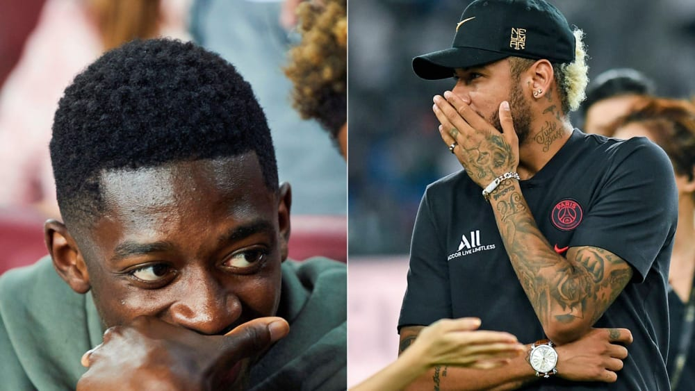 Ousmane Dembelé und Neymar