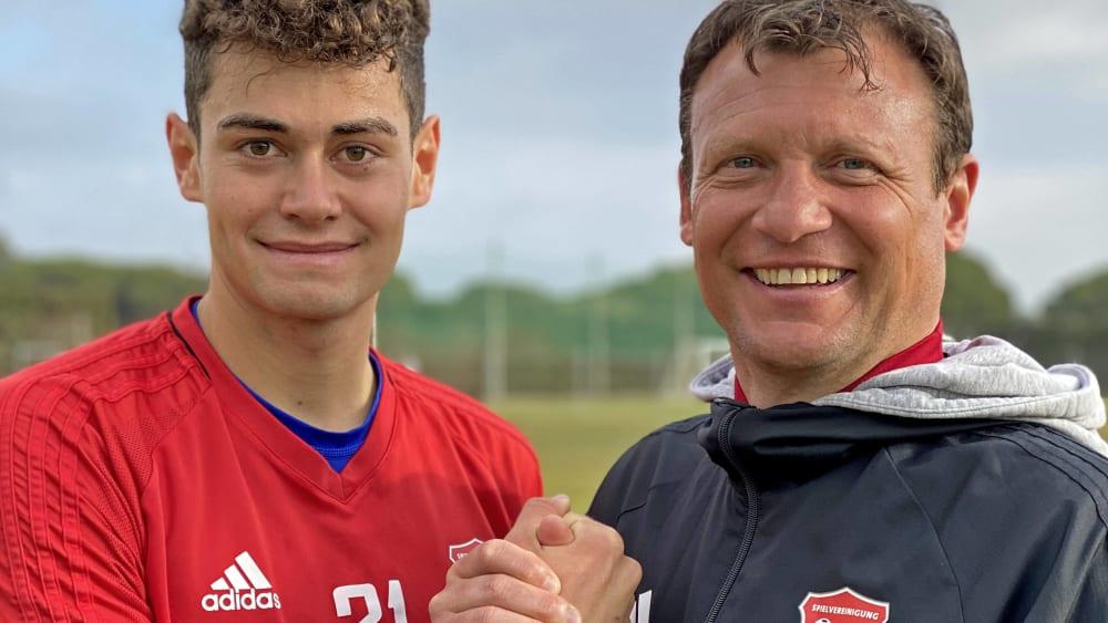 Freude über vollzogenen Wechsel: Alexander Fuchs spielt nun für Unterhaching.