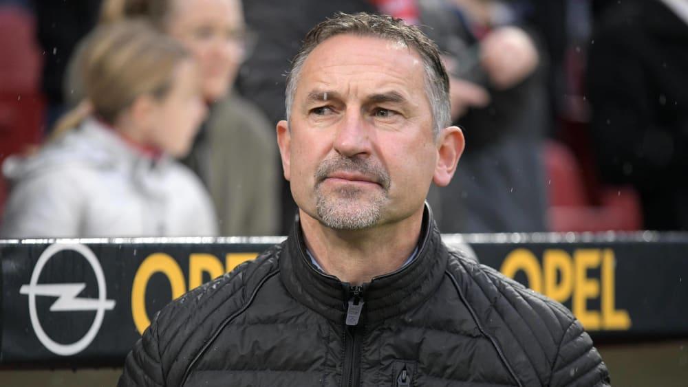 Mainz-Trainer Achim Beierlorzer (hier im Heimspiel gegen den FC Bayern München).