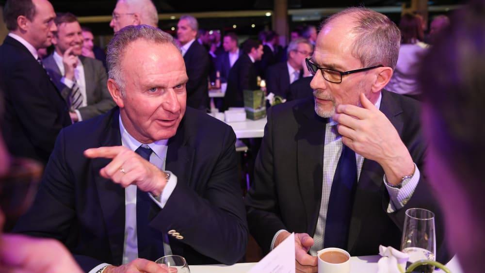 Bayern-Boss Karl-Heinz Rummenigge im Gespräch mit Lars-Christer Olsson.