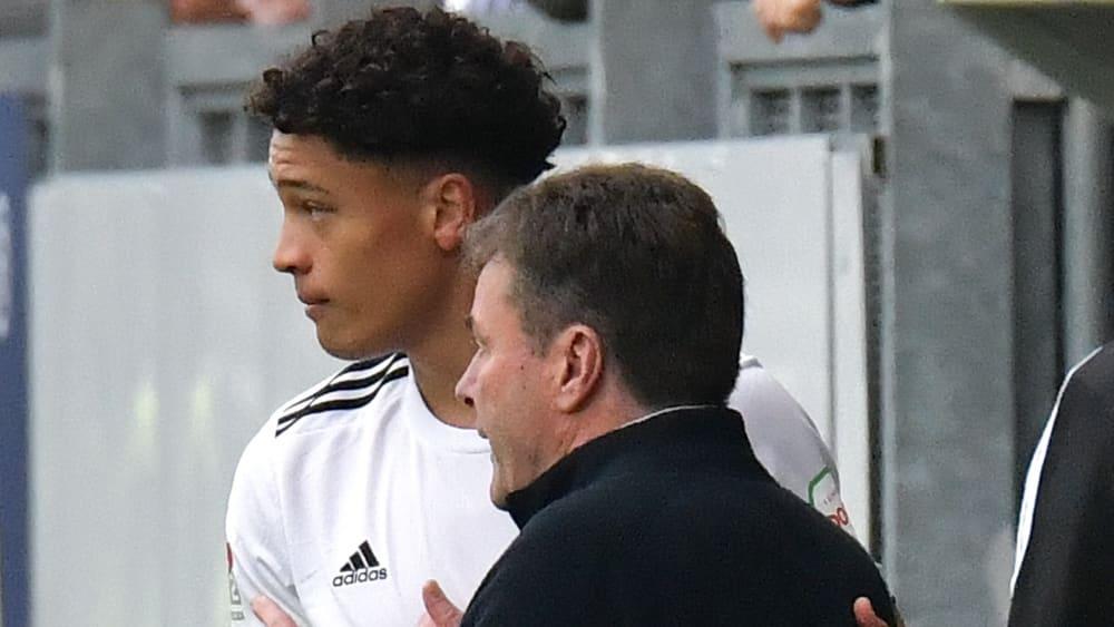 Jonas David und Trainer Dieter Hecking