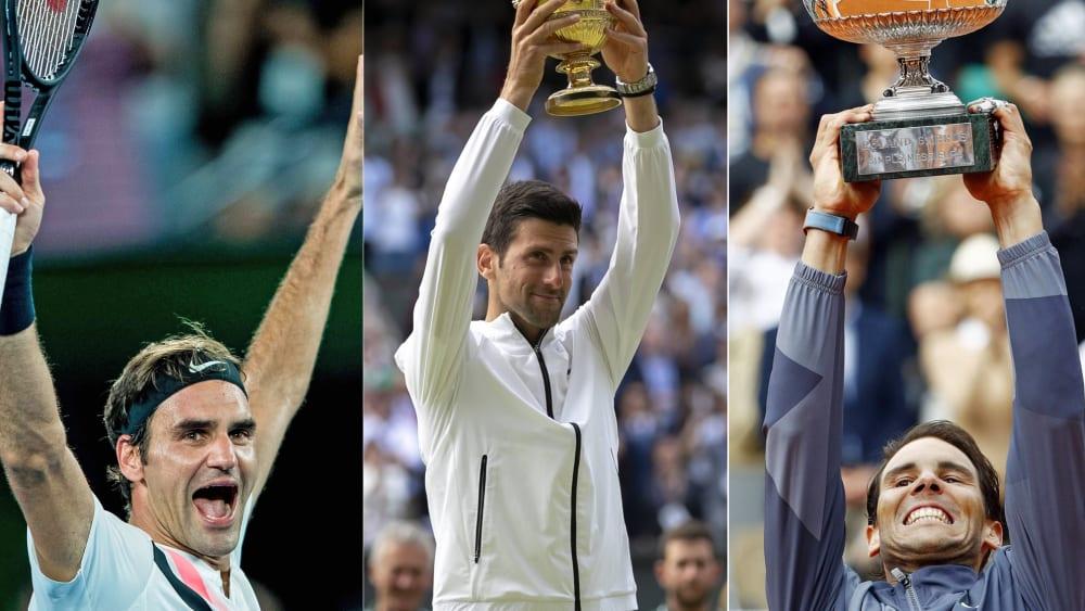 Roger Federer, Novak Djokovic und Rafael Nadal