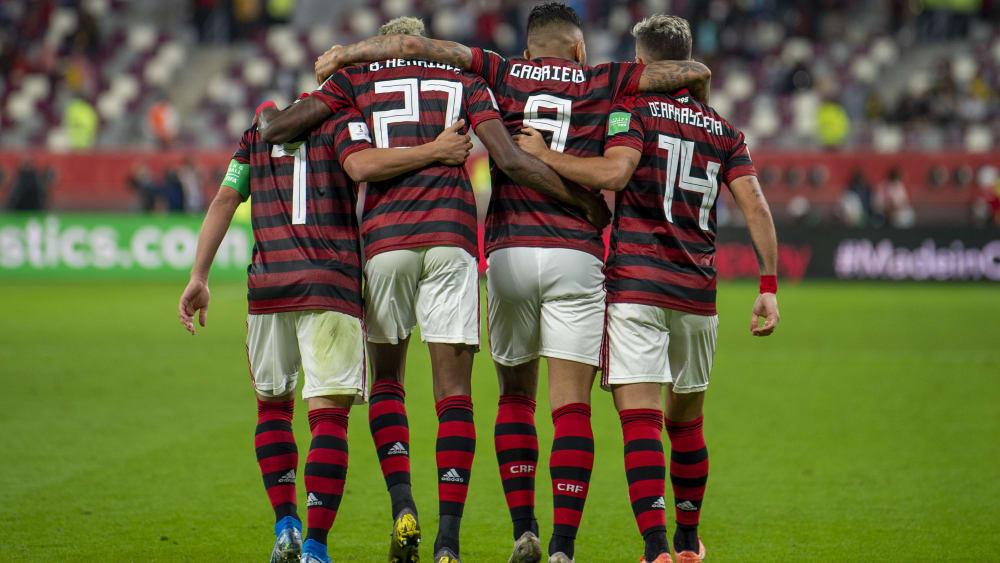 Gutes Teamwork: Flamengo dreht nach der Pause auf und schafft noch den Finaleinzug.
