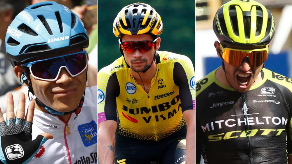 Miguel Angel Lopez, Primoz Roglic und Esteban Chaves