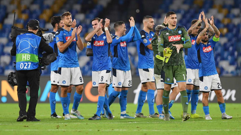 Die Napoli-Profis nach dem 1:1 gegen Salzburg